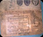 Book label with stamp of Charles Hooghuys