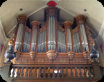 Church organ in Maldegem, built by Louis Benoit Hooghuys