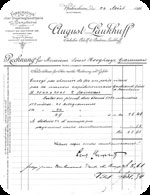 Invoice from August Laukhuff - Germany