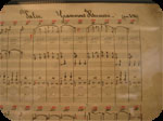 "Detail of the score of the ""Valse kermesse Grammont"" by Edgard Hooghuys"