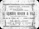Book label of Julius Vander Beken